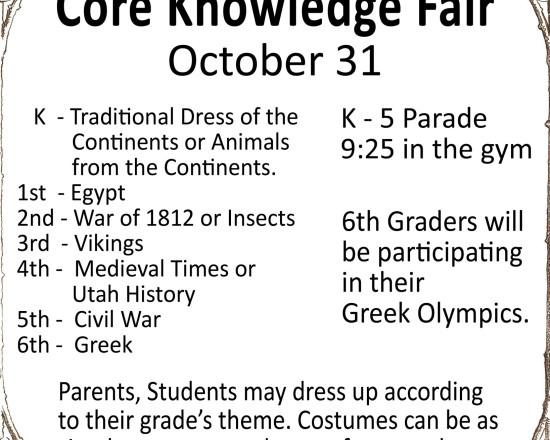 Elementary's Core Knowledge Fair