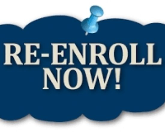 Re-Enroll for 2017-18 Now Open