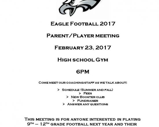 Eagle Football Parent/Player Meeting