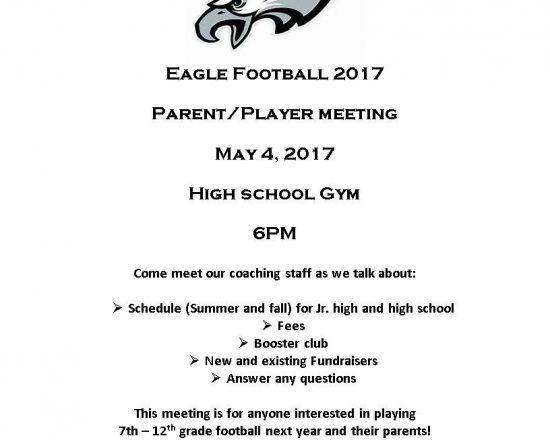 Parent/Player Meeting for ALA Football