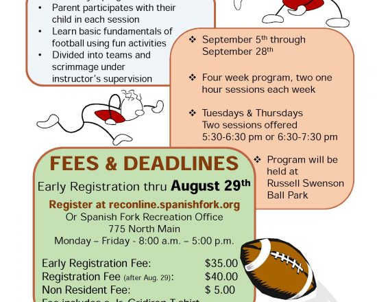 Spanish Fork Youth Football and Volleyball Information