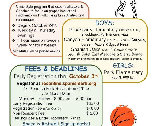 Spanish Fork Recreation Registration Information