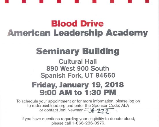 Blood Drive at ALA