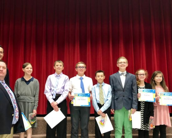 Elementary Students Recognized by Kiwanis Club