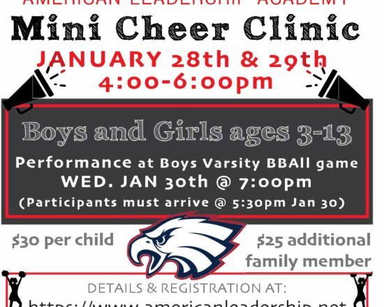 Register for the ALA Mini Cheer Clinic