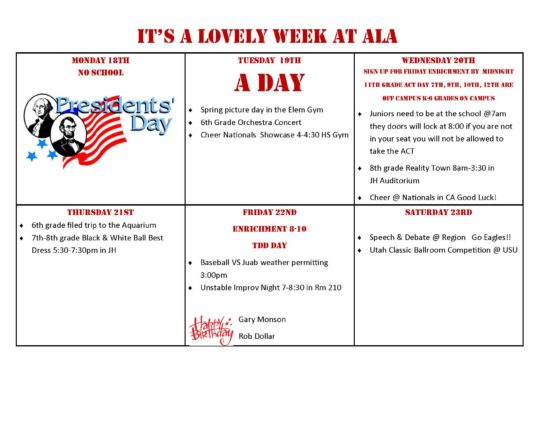 This Week's Events at ALA
