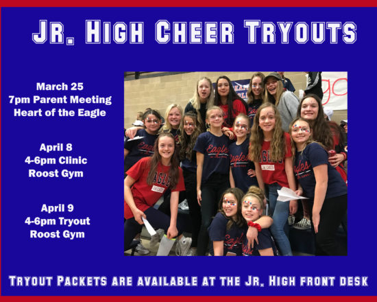 Jr. High Cheerleading Tryout Information