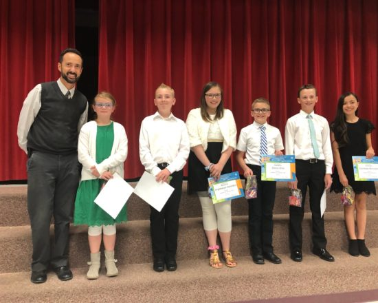 ALA 6th Graders Recognized by Spanish Fork Kiwanis Club