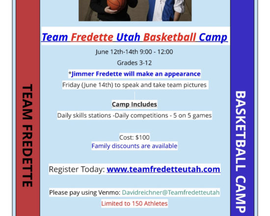 Sign up Today for the Team Fredette Basketball Camp