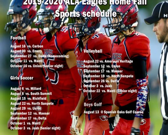 ALA Fall Sports Home Schedule