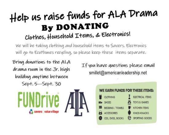 ALA Drama Fundraiser