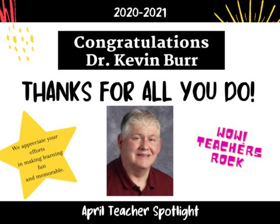 TEACHER SPOTLIGHT FOR APRIL