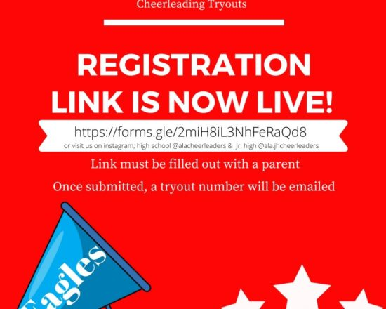 ALA Cheerleading Registration Now Live