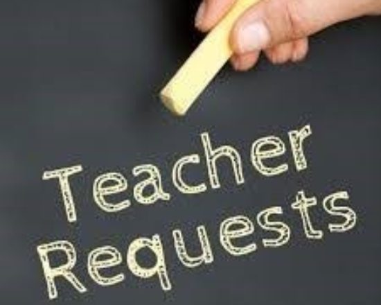ELEMENTARY TEACHER REQUESTS