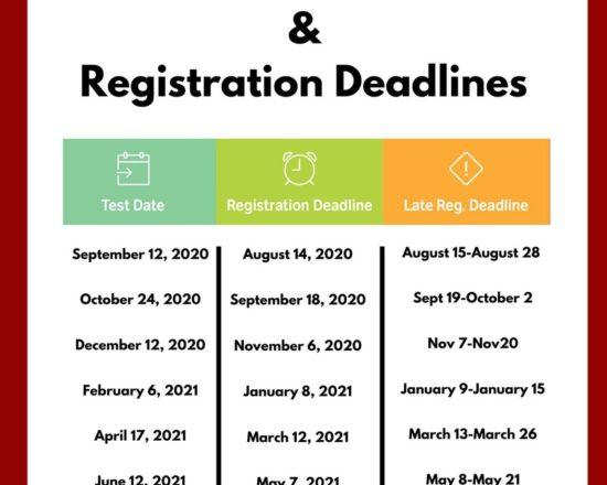 2020-2021 ACT DATES