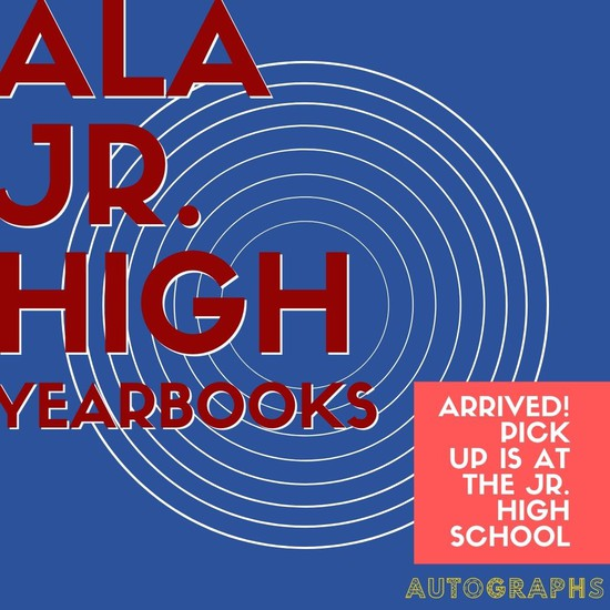 2019-2020 JR. HIGH YEARBOOKS HAVE ARRIVED