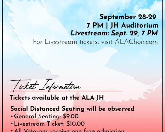 DON'T MISS ALA FALL SING (SEPTEMBER 28TH-29TH)
