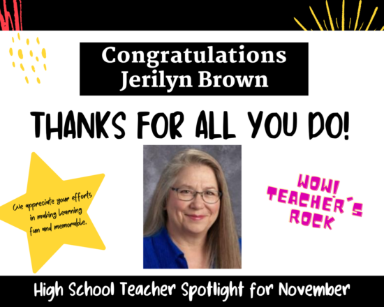 NOVEMBER TEACHER OF THE MONTH