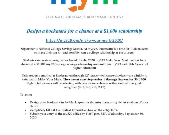 DESIGN A BOOKMARK FOR $1000 SCHOLARSHIP OPPORTUNITY