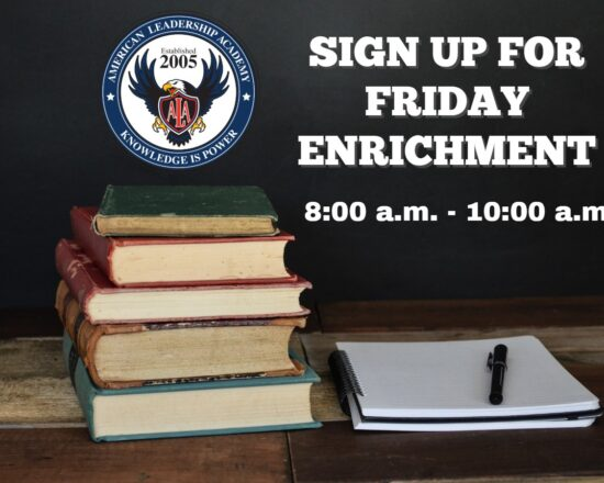 SIGN UP FOR FRIDAY ENRICHMENT