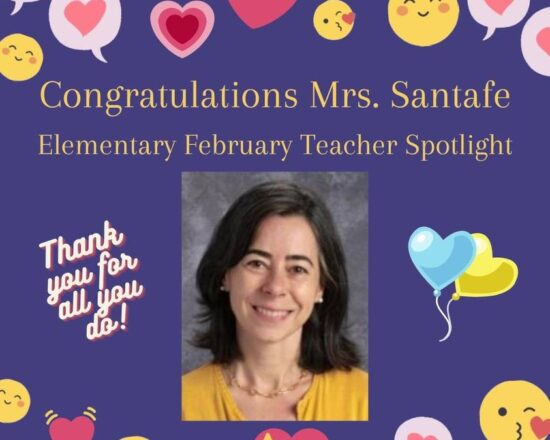 FEBRUARY'S TEACHER OF THE MONTH