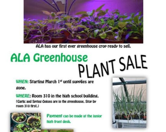 ALA Greenhouse Plant Sale