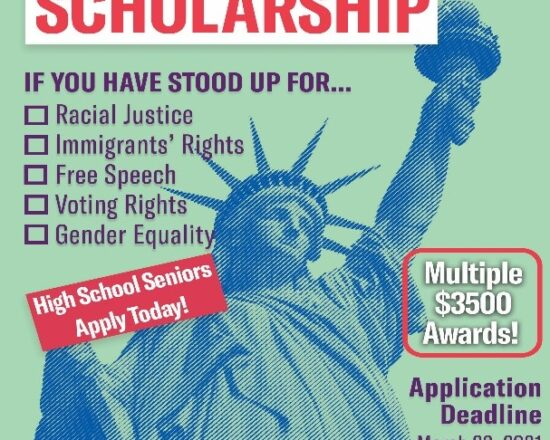YOUTH ACTIVIST SCHOLARSHIP (DEADLINE: MARCH 22ND)