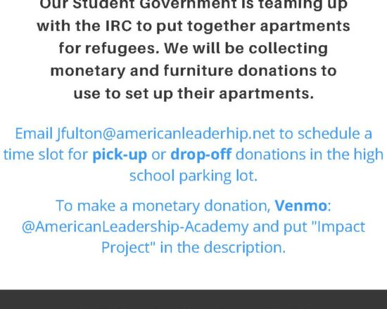 """Please Contribute """"like new"""" and """"gently used"""" furniture for our impact project"""