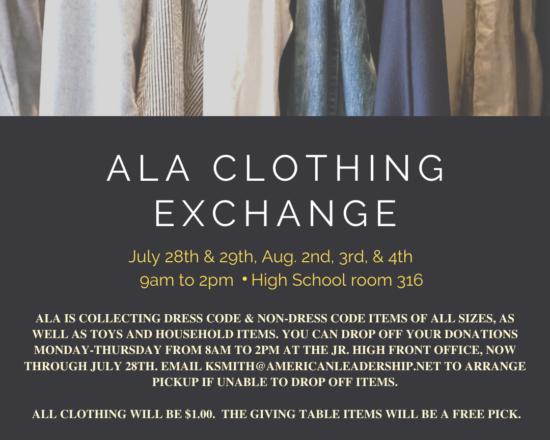 ALA CLOTHING EXCHANGE