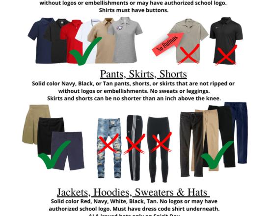 2021-22 Dress Code Reminder