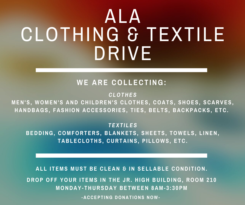 ALA Clothing and Textile Drive