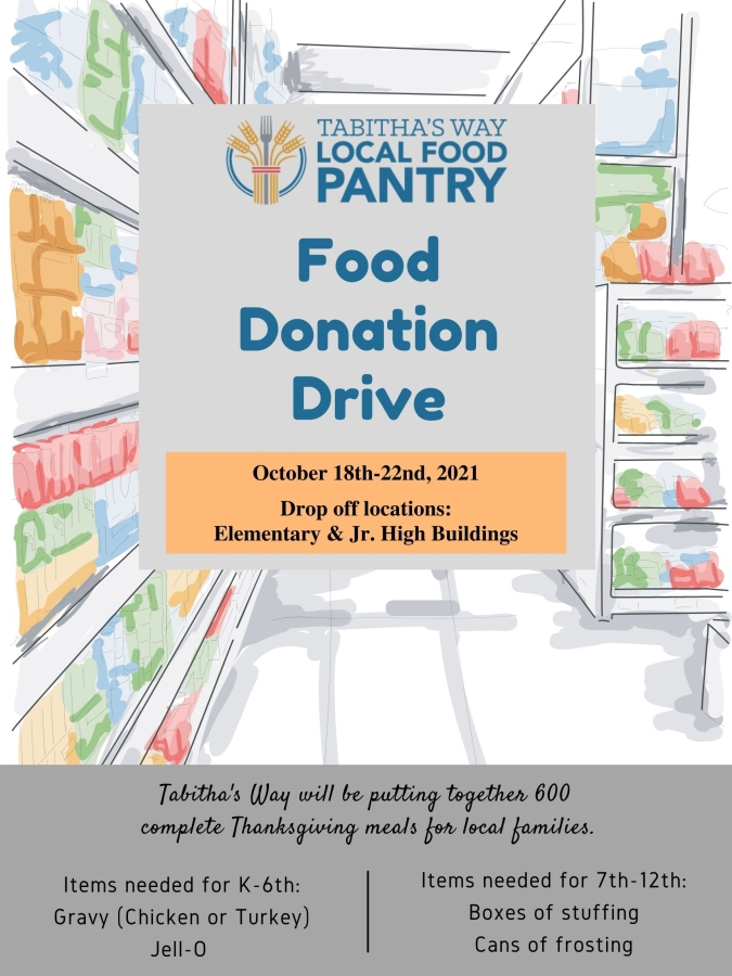Food Donation Drive (October 18th-22nd)